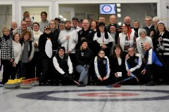 Participants in Black and White Bonspiels